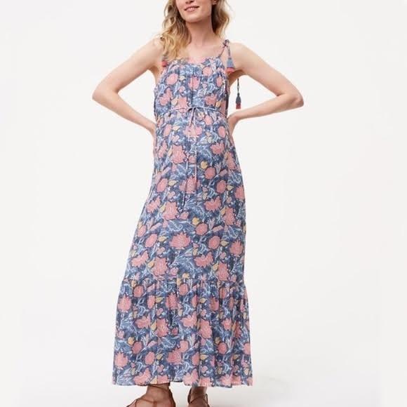 4509a0d31a LOFT maternity floral maxi dress boho summer